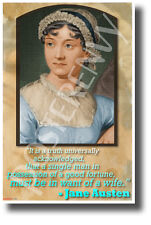 """A Single Man..."" - Jane Austen - NEW Famous Person Poster (fp463)"