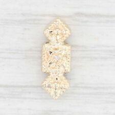 Vintage Richard Klein Spacer Slide Charm 14k Yellow Gold Diamond
