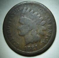 1881 Indian Head Cent in Average Circulated Condition    DUTCH AUCTION