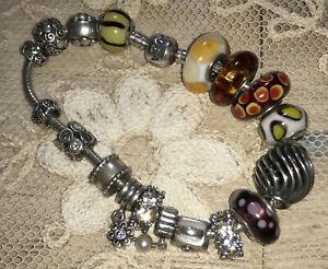 Pandora Genuine Charm Bracelet 16 Charms