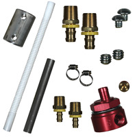 "FASS FUEL SYSTEMS 5//8/"" FLEXIBLE SUCTION TUBE KIT DODGE FORD CHEVY"