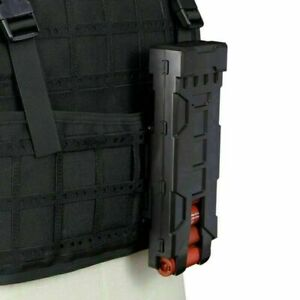 Tactical MOLLE 10pcs 12 gauge Holder Buttstock Shell Pouch Ammo Carrier