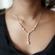 Majestic Diamonte Sterling Silver Necklace (as featured in BRIDE magazine)