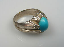 Edler antik orient silberring Türkis persien Afghan silver turquoise ring Nr:79