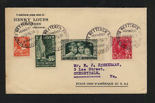 Belgium nice cover to Us 1933 Wpx1031