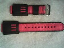 New Speidel Band Strap Black Leather Red Fit Casio G Shock Watch 16mm
