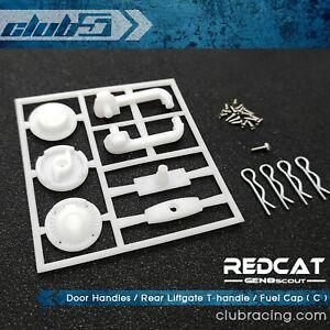Door Handles / Rear Liftgate T-handle / Fuel Cap ( C ) for Redcat GEN8