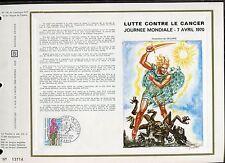 DOCUMENT CEF PREMIER JOUR  1970  TIMBRE N° 1636 LUTTE CONTRE LE CANCER
