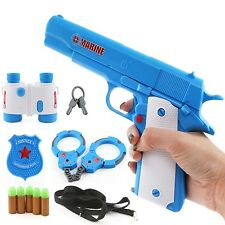 Children Soft Bullet Gun Toys Pistol Mauser Colt M1911 Handcuffs Telescope Badge