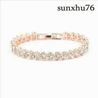 925 Silver Charm Bracelet Bangle Sapphire Fashion Women Girls White Jewelry HOT