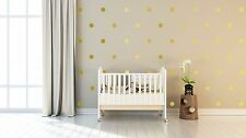 "4"" Four Inch Peel and Stick Metallic Gold Polka Dot Wall Decals-Confetti Decals"