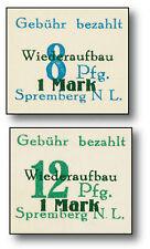 Wiederaufbau, 2 ungezähnte Briefmarken 921484600