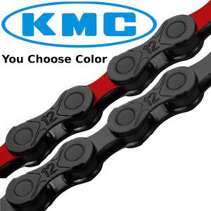 KMC DLC12 12 Speed Chain Mountain MTB Bike fit SRAM Shimano 126 link Black Red