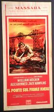Locandina IL PONTE SUL FIUME KWAY 1959 WILLIAM HOLDEN JACK HAWKINS ALEC GUINNESS