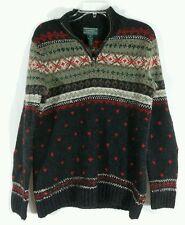 Lauren Ralph Lauren Hand Knit Lambs Wool Sweater Womens Size P/P VERY WARM!