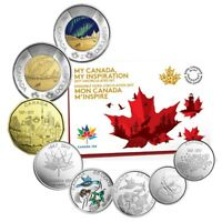 """2017 Canada 150 """"My Canada My Inspiration"""" 8 Coin Proof Like Set."""
