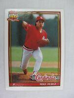 Mike Perez St Louis Cardinals 1991 Topps Baseball Card 205