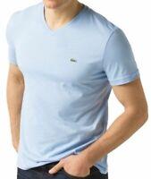 Lacoste Men's Athletic Cotton V-Neck  T-Shirt Mineral Snowcone Blue