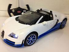 Bugatti Veyron Radio telecomando auto luci LED 1/14 Bianco Con Licenza Ufficiale