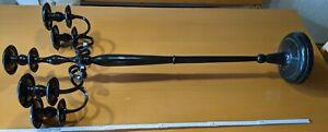 Kerzenständer Metall Schwarz 5 Arme 120cm stabil Kronleuchter