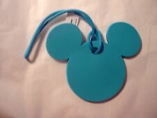 Disney's Small Mickey Head Turquoise Luggage Tag