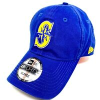 New Era 49FORTY Seattle Mariners Retro Royal Hat - Stretch Fitted Size XL - NWT