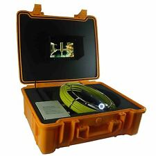 80m Drain Sewer HD Snake Pipe Video Inspection Camera System with 7Inch Monitor