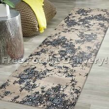 LEGACY VINTAGE STYLE BEIGE BLUE CLASSIC RUG RUNNER 80x400cm **FREE DELIVERY**