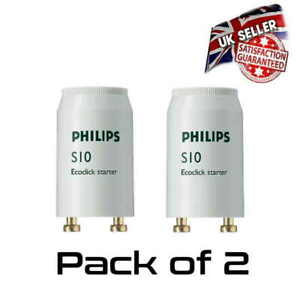 2 x Philips S10 ECO FSU Fluorescent Starter Motor 4w - 65W * HQ Brand*