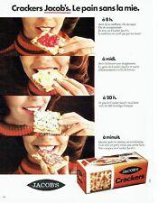 Publicité Advertising 087  1974  le pain sans mie Jacob's Crackers