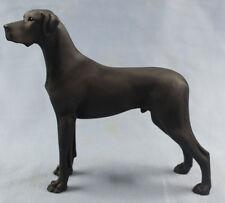 deutsche dogge figur hund North light hundefigur great dane alabaster schwarz