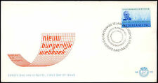 Netherlands 1970 Civil Code FDC First Day Cover #C27413