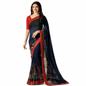 Sari Indian Designer Wear Pakistani Blouse Wedding Saree Bridal Fancy Party Wear