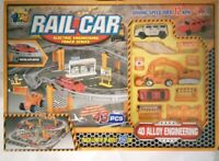 Rail Car Electric Track Engineering Car Kids Road Track Model Toy Racing Road