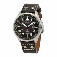 Citizen Eco-Drive Men's BX1010-02E Promaster Nighthawk Black Leather Watch
