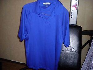 Men's Collared Blue Austin Clothing Moisture Wicking Shirt size XL