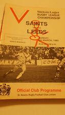 6.3.83 St Helens v Leeds programme