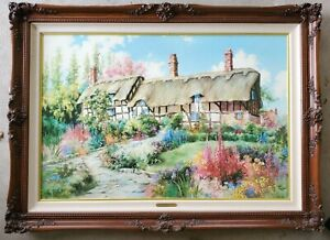 """Marty Bell """"MISS HATHAWAY'S GARDEN"""" Signed Limited Edition 24x36 Print on Canvas"""