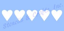 HEART LOVE  STENCIL BORDER TEMPLATES HEARTS CRAFT ART PAINT TEMPLATE NEW