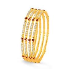 Sukkhi Stylish Gold Plated Set OF 4 Australian Diamond Bangle(32007BADV1000)