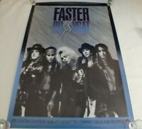 Faster Pussycat Debut Poster 1987 Original Poster Glam Metal Glam Punk Band