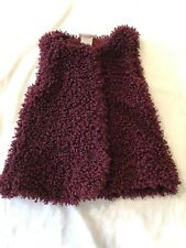 Little Lass Snap Up Girls Vest Size 2T, Maroon Colored