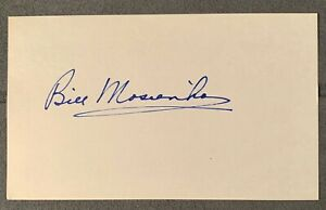 Bill Mosienko - Chicago Blackhawks - Signed 3x5 Index Card