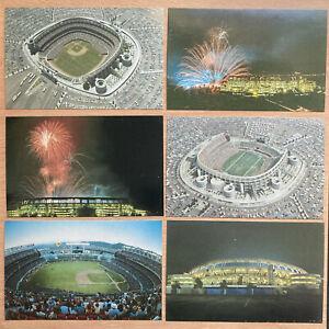 (6) San Diego Jack Murphy Stadium Postcards Padres Chargers Sockers