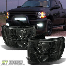 [SMOKE] 2007-2013 Chevy Silverado 1500 LED Halo Projector Headlights DRL Lamps