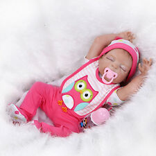 """23"""" Full Body Silicone Vinyl Reborn Baby Girl Doll Bath Toys Lifelike Newborn US"""