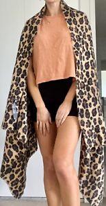 Zara Size M Shawl Leopard - Scarf, Shawl Or Blanket!