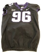 Game Worn Used Nike TCU Horned Frogs Football Jersey Size 46 #96 2018