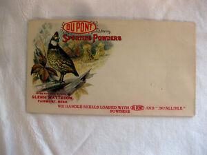 Original 1907 DuPONT SPORTING POWDERS Envelope FAIRMONT NE  Hazard Infallible