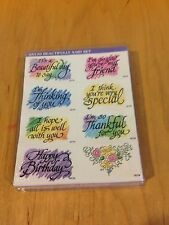 Beautifully Said Stampendous Foam mounted Rubber Stamp Set NOS S-21 *